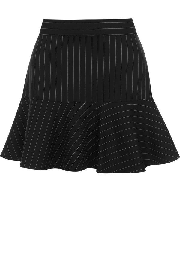 Dark Blue Mini Striped Skirt