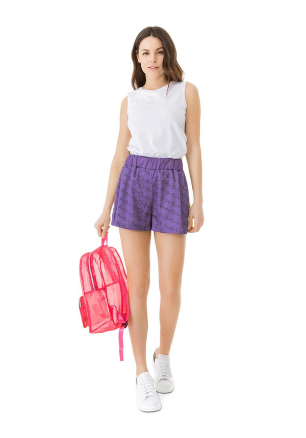 Purple Logo Shorts
