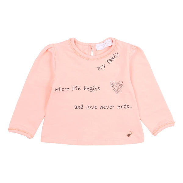 Pink Print Long-Sleeve T-Shirt