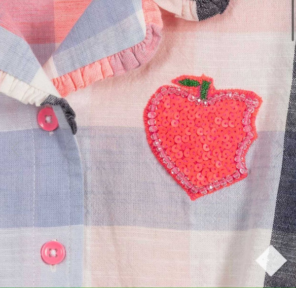 Blue & Pink Check Cotton Shirt