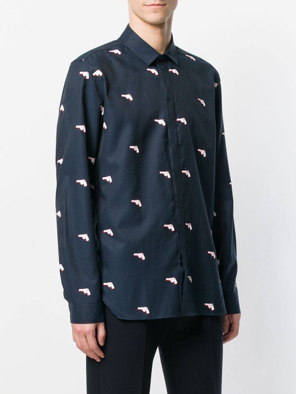 Dark Blue Long-Sleeve Shirt