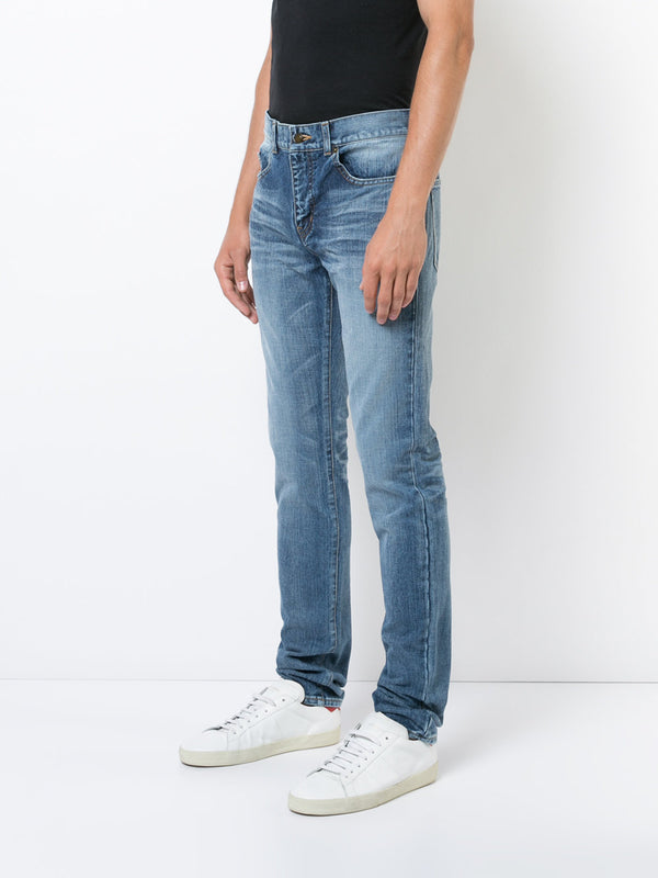 Flagged logo Jeans