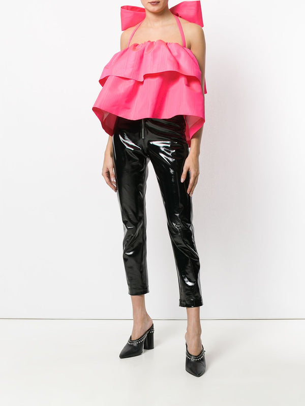 Fuxia Top w/ Oversize Ribbon On The Back