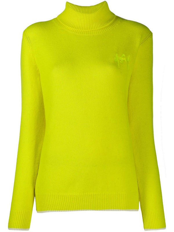 Roll Neck Cashmere-Blend Jumper