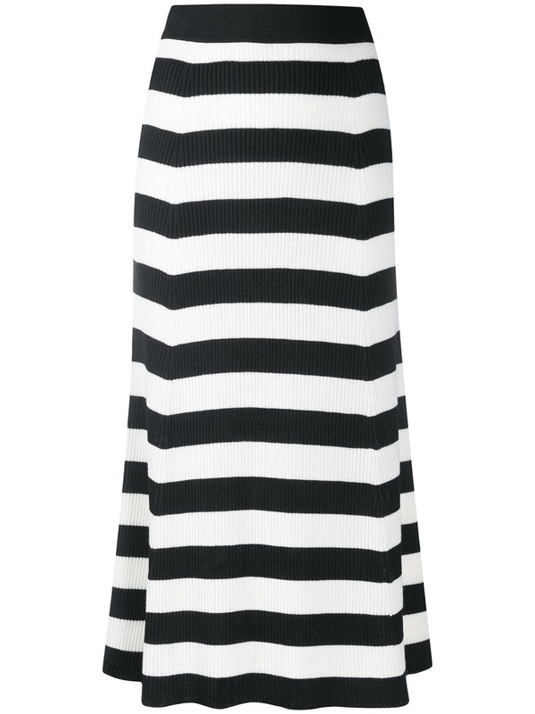 Striped Knitted Midi Skirt