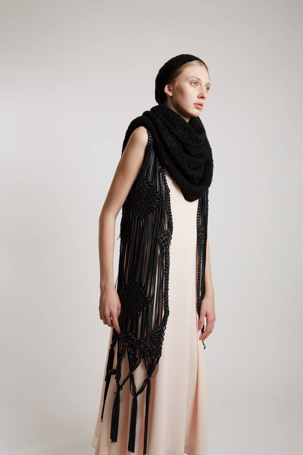 Leather Fringed Vest