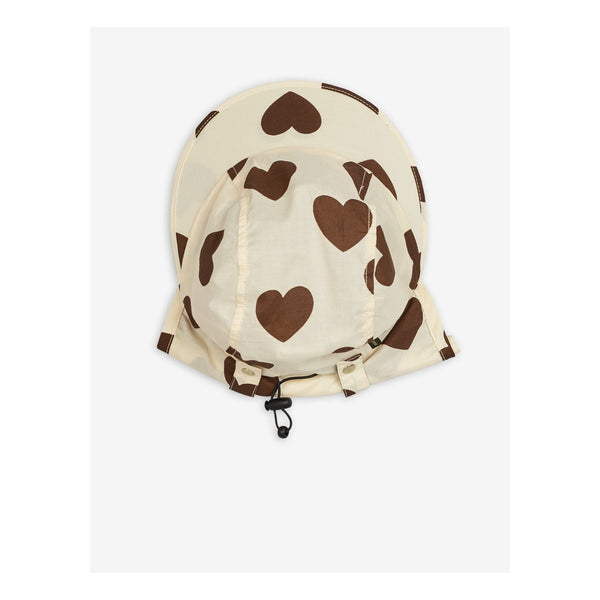 Brown Hearts Hat