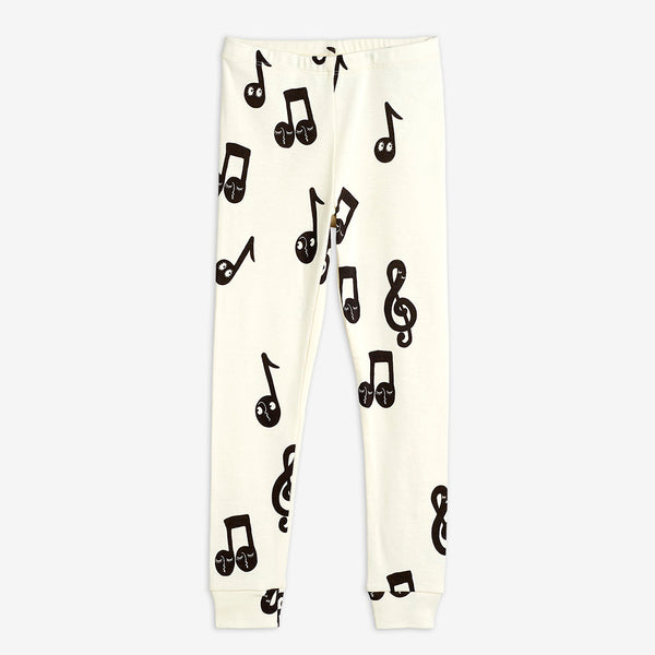Black Notes Leggings