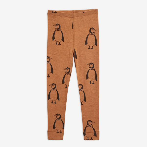 Black Penguins Wool Leggings