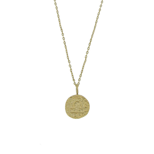 Astro I Libra Gold Plated Necklace