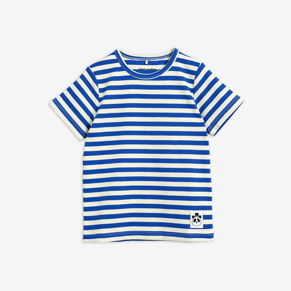 Blue Stripe Ribbed T-Shirt