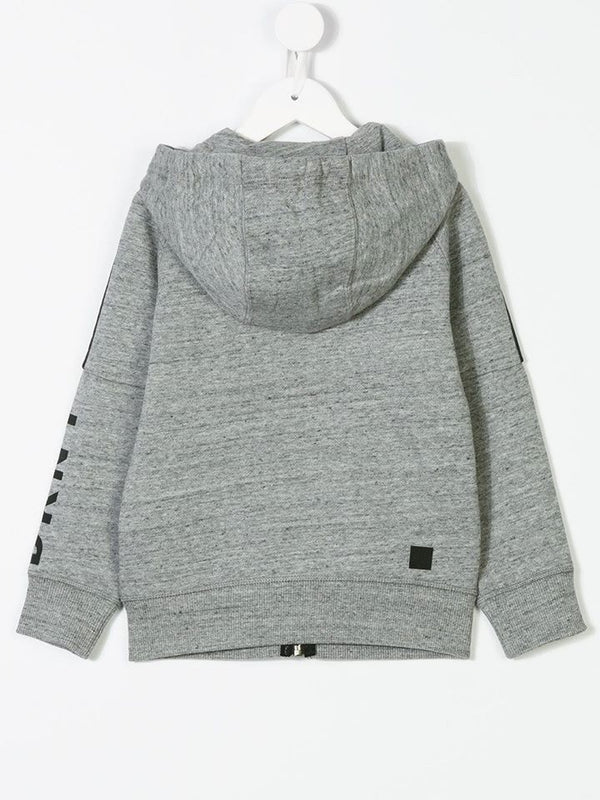 Grey Zip Hooded Sweatshirt