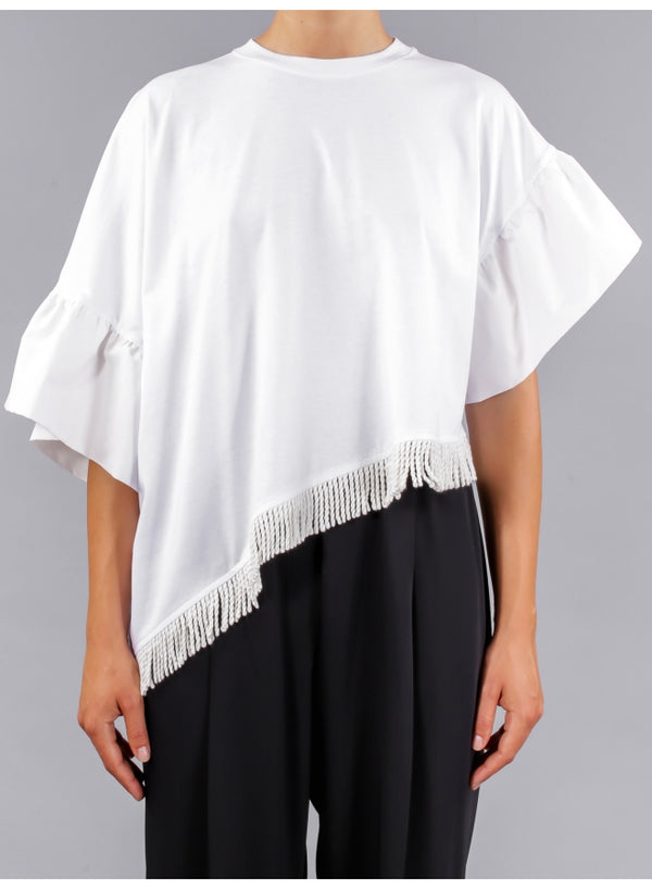 Bell-Sleeve Asymmetric Top