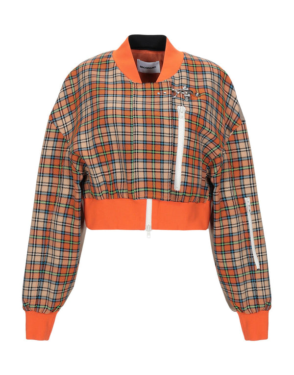 Orange Crop Bomber Jacket