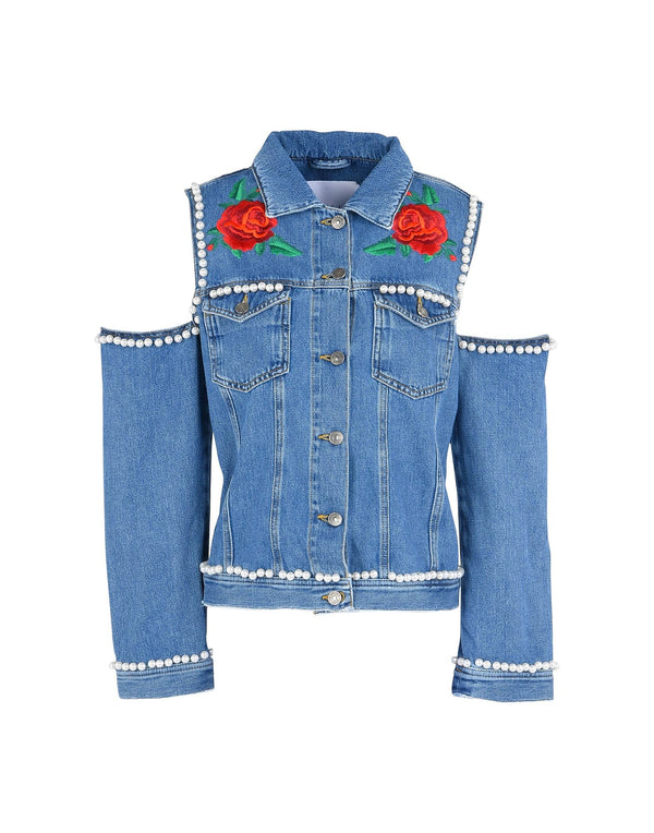 Denim Roses Jacket