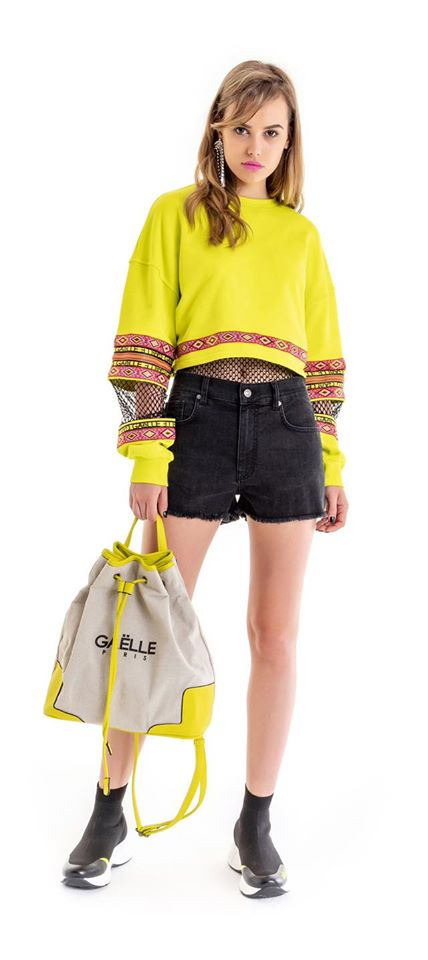 Neon Cropped Sweatshirt