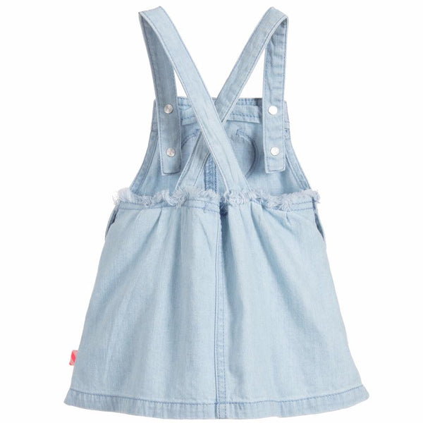 Denim Low-Cut Sleeveless Dress