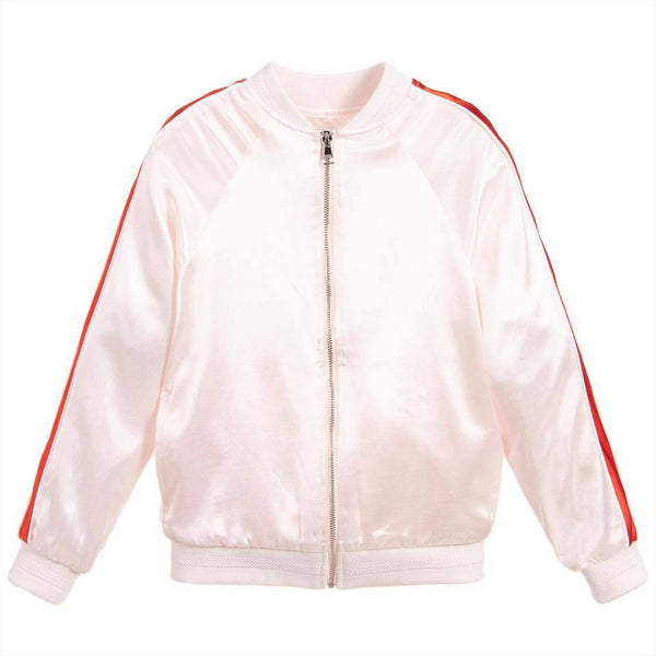 Pink Viscose Satin Jacket