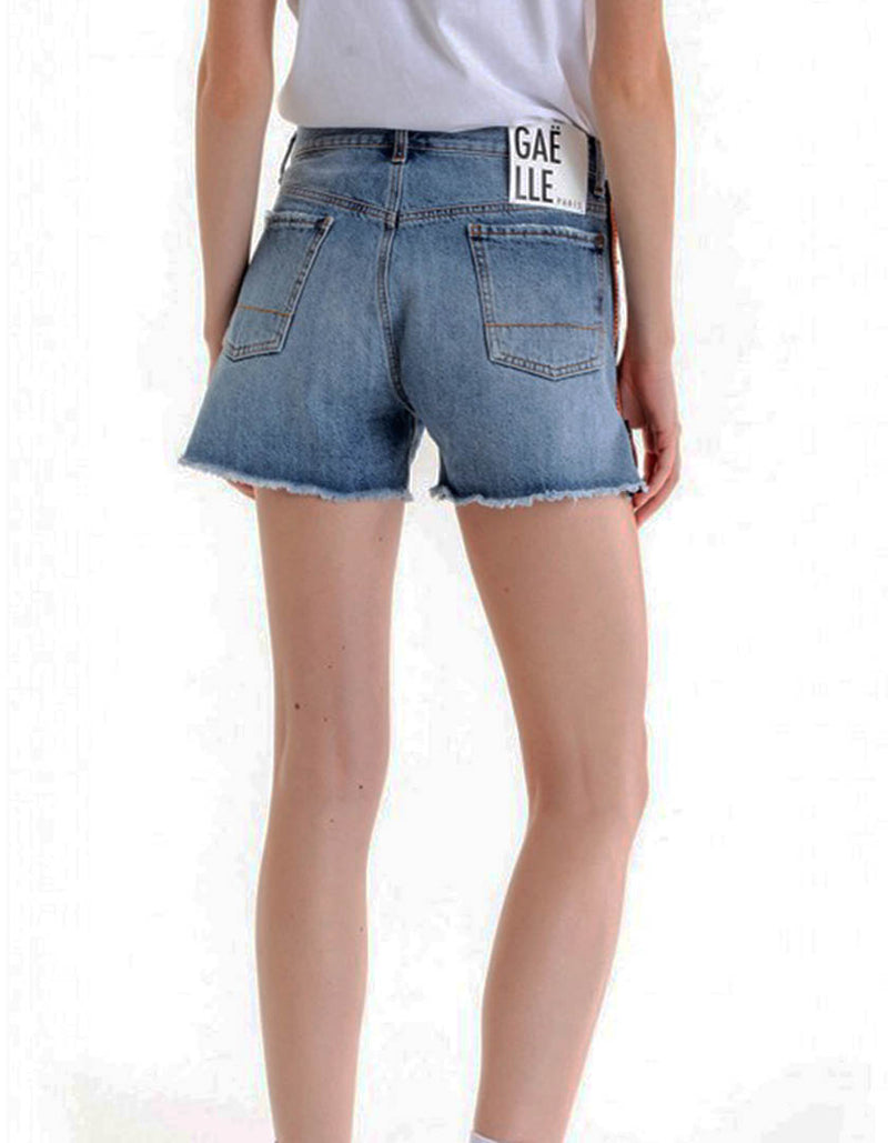 Denim Zip Shorts