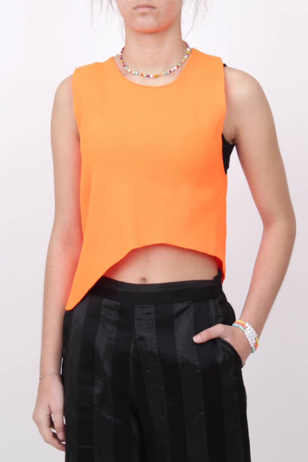 Asymmetric Fluo Top