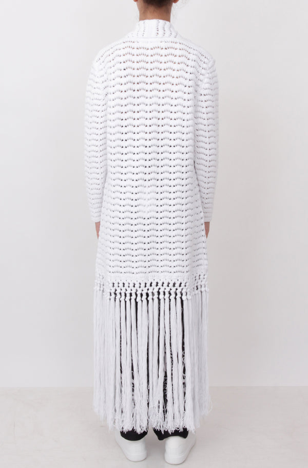 White Fringed Vest
