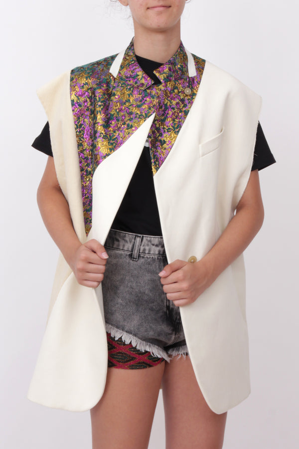 Geometric Sleeveless Jacket