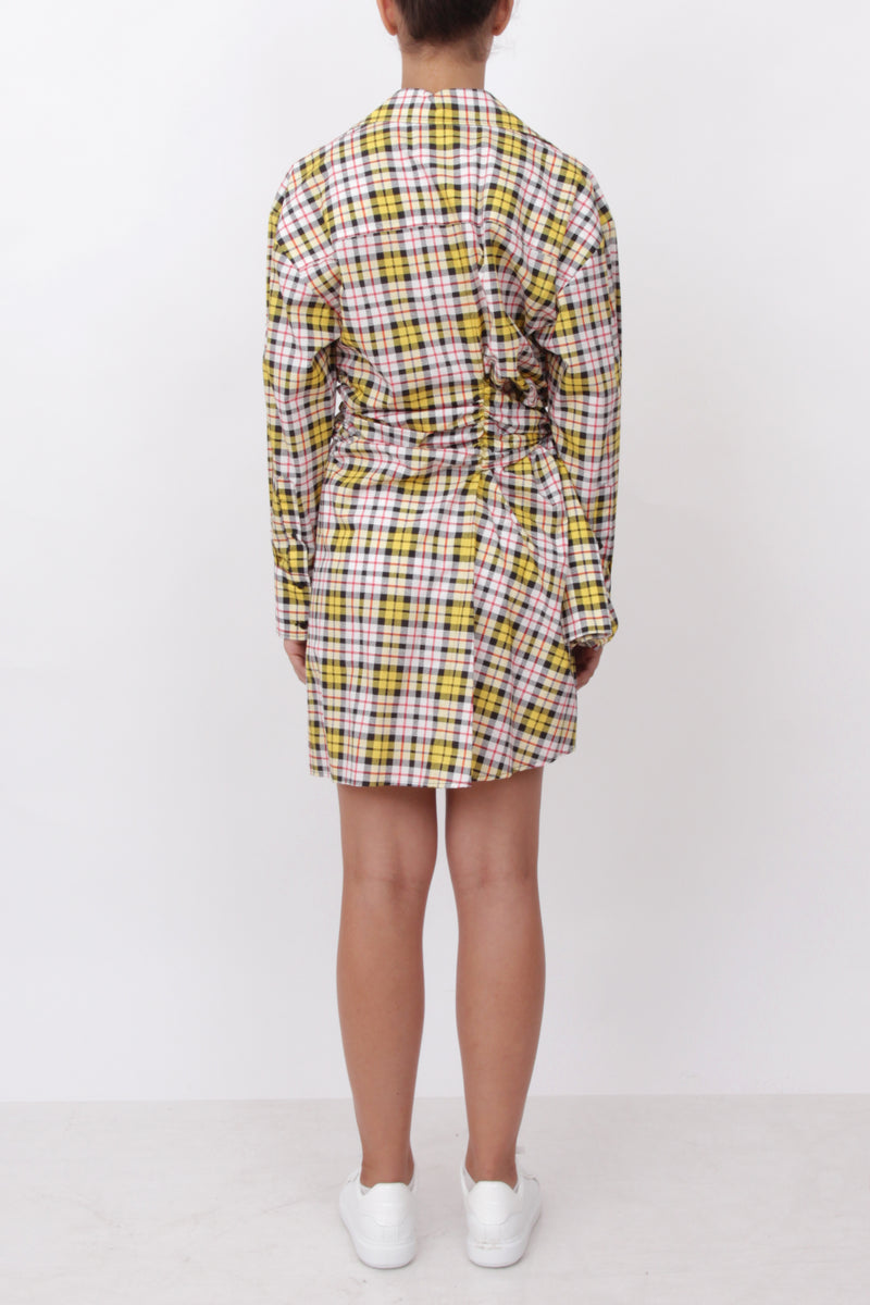 Checked Knot Shirt Dress