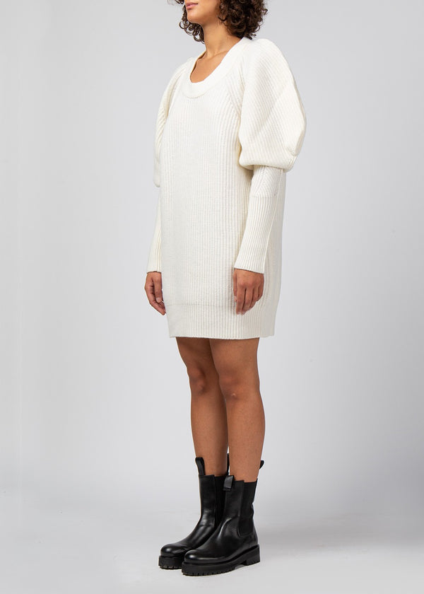Long-Sleeve Knit Dress