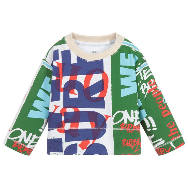 Colorful Long-Sleeve Blouse