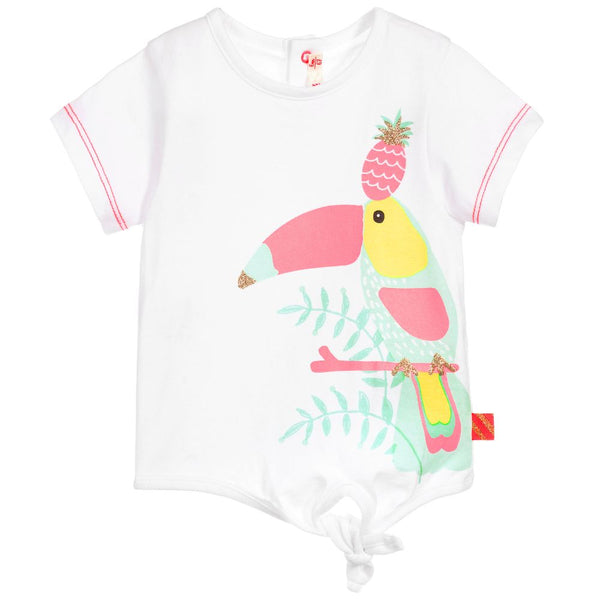 White Cotton Toucan T-Shirt