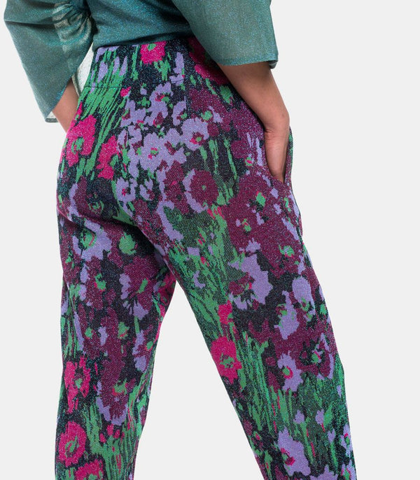 Flowers Lurex Pants