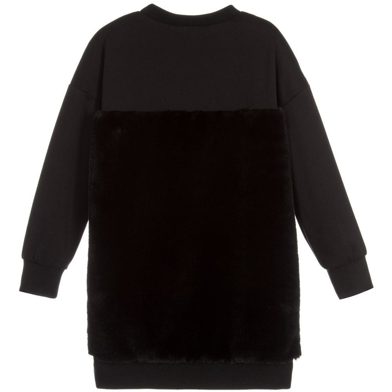 Black Sweatshirt-Dress