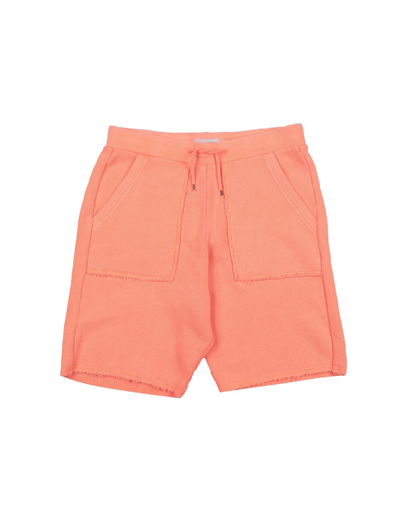 Orange Cotton Shorts
