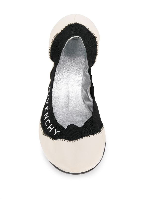 Logo Print Ballerina Shoes