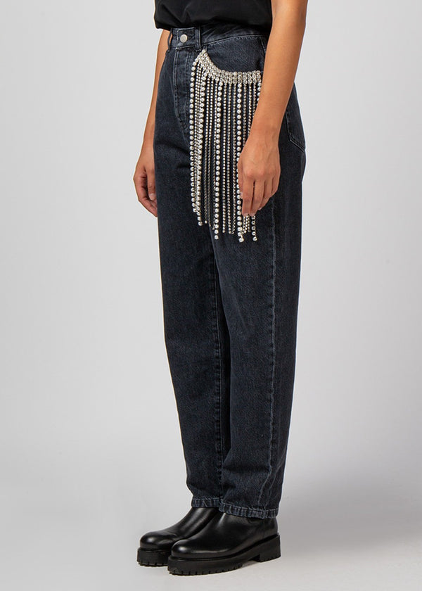 Crystal Fringed Jeans