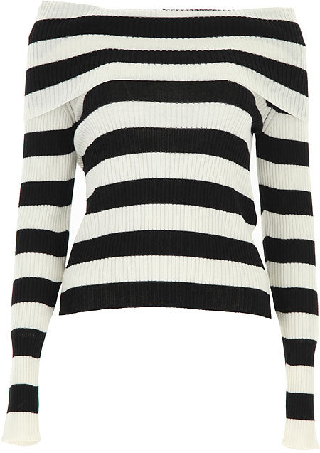 Striped Sweater in Mixed Wool
