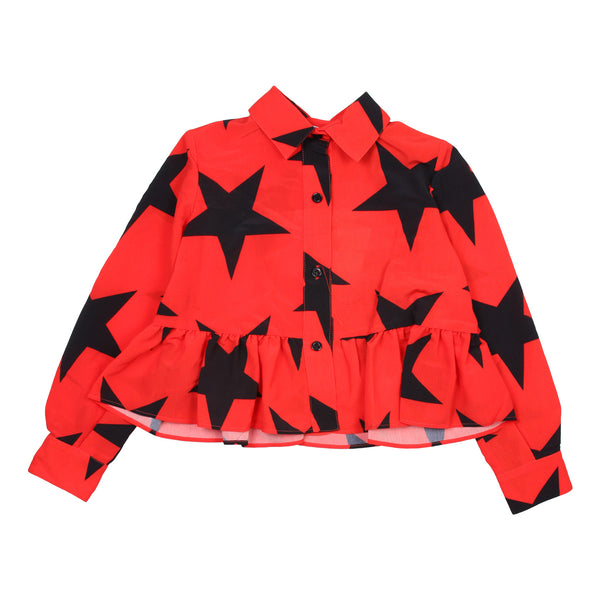 Red Shirt with Black Stars