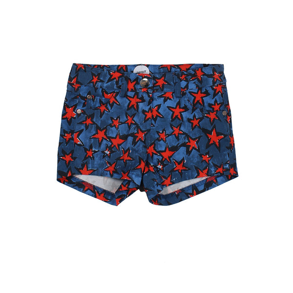 Blue Shorts with Red Stars