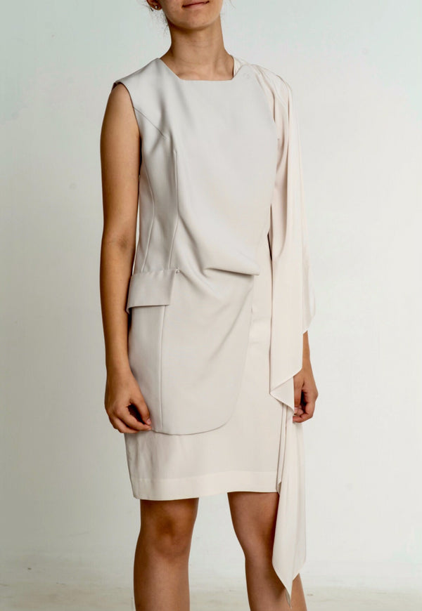 Sleeveless Blazer Dress