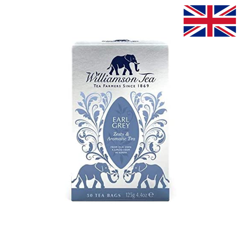 WILLIAMSON TEA – EARL GREY 50 SACHETS – 125 G