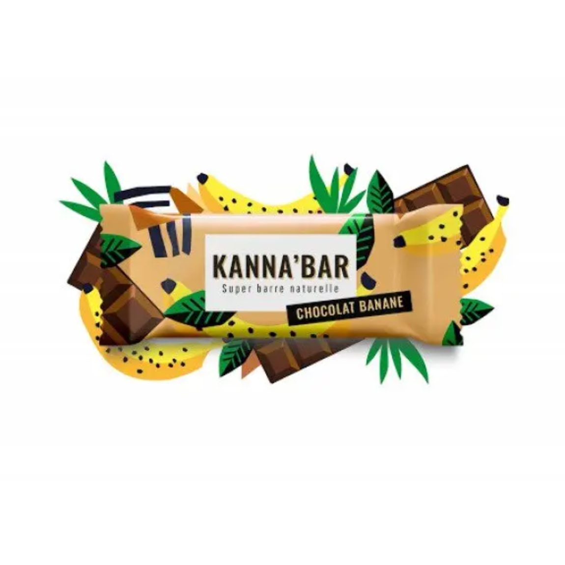 KANNA'BAR - SUPER BARRE NATURELLE - CHOCO BANANE - 30 G