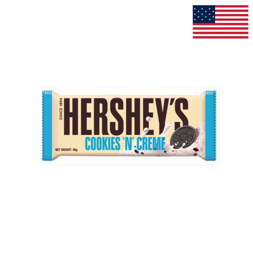HERSHEY'S - COOKIES AND CREAM BAR 43 G