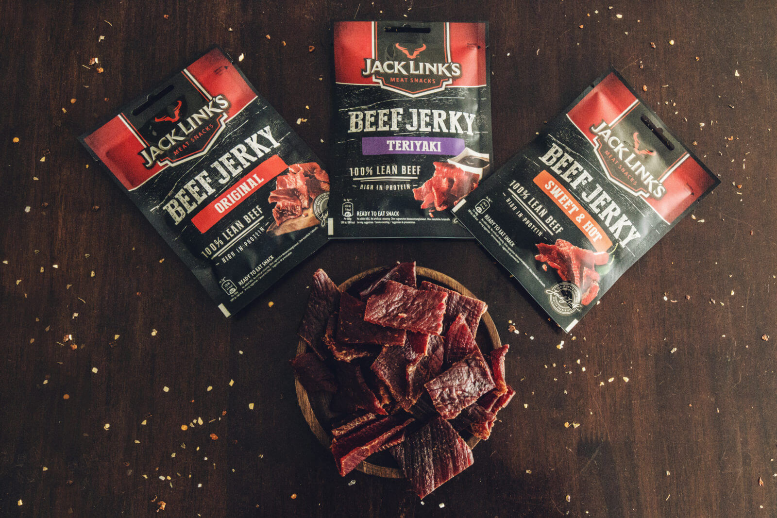 JACKS LINKS - BEEF JERKY SWEET AND HOT - 70G
