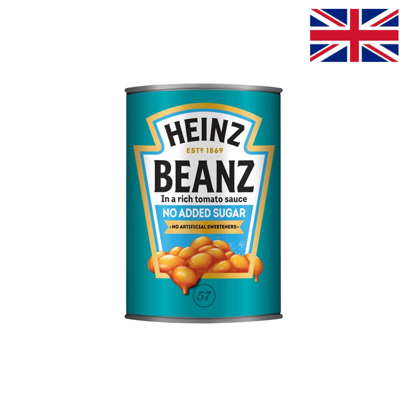 HEINZ - NO ADDED SUGAR BEANS - 415 G