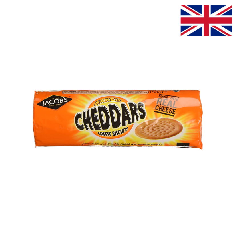 JACOB'S - BISCUITS AU CHEDDAR - 150 G x 12