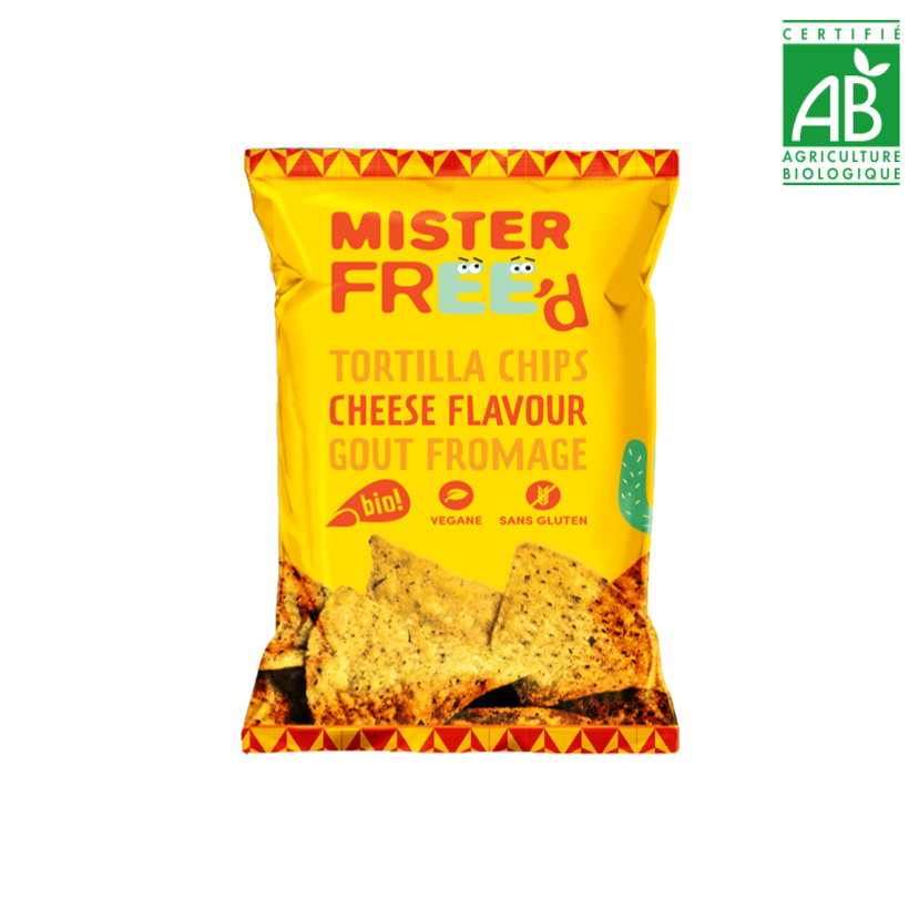 MISTER FREE'D - TORTILLA CHIPS - VEGAN CHEESE - 135 G