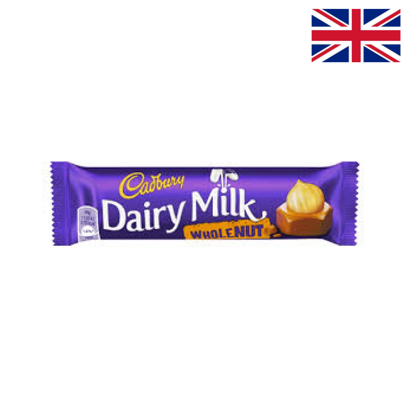 CADBURY - DAIRY MILK WHOLE NUT - 45 G