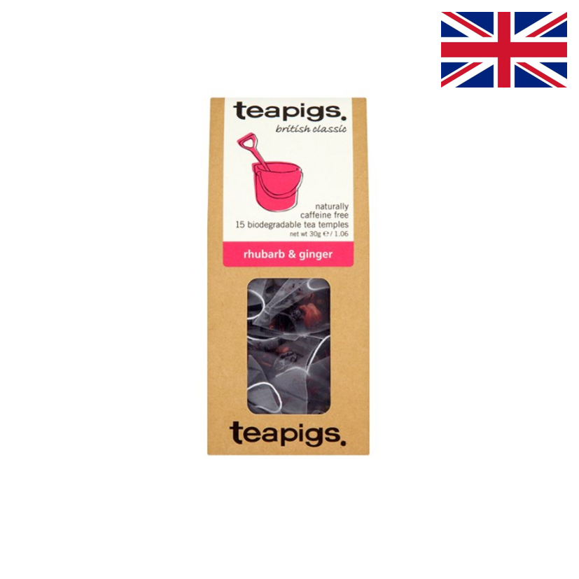 TEAPIGS - Infusion - Rhubarbe & gingembre - 15 sachets