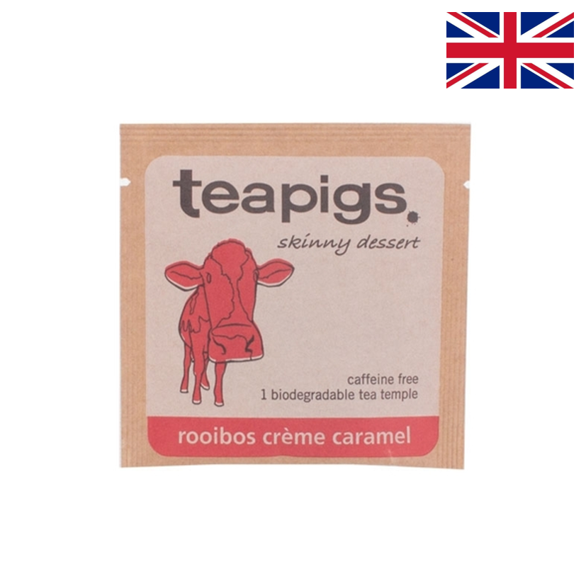 TEAPIGS - Infusion - Rooibos crème caramel - Boîte 50 sachets individuels
