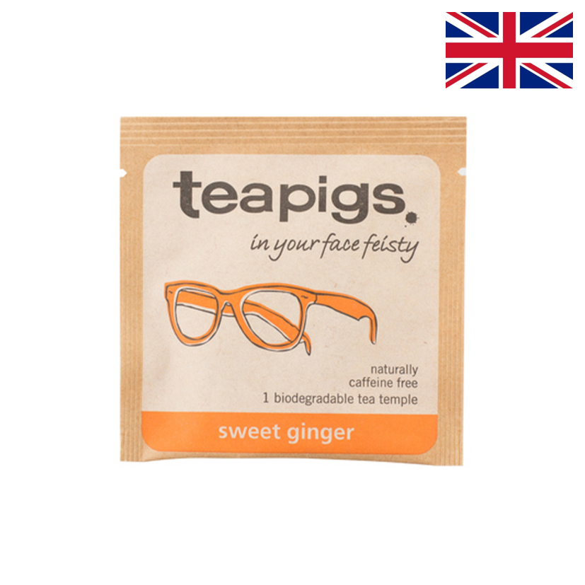 TEAPIGS - Infusion - Gingembre doux - Boîte 50 sachets individuels